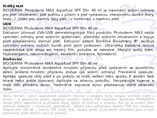 BIODERMA Photoderm MAX Aquafluid neutr.SPF50 40ml