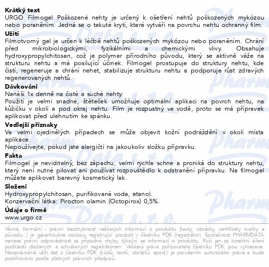 URGO FILMOGEL Poškozené nehty 3.3ml NOVÝ