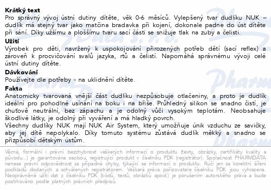 NUK Dudlík Adore SI V1(0-6m) 1ks 730140