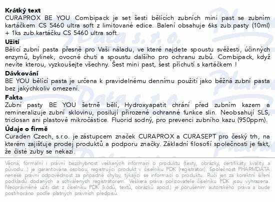 CURAPROX BE YOU Combipack set 6x pasta 10ml+CS5460