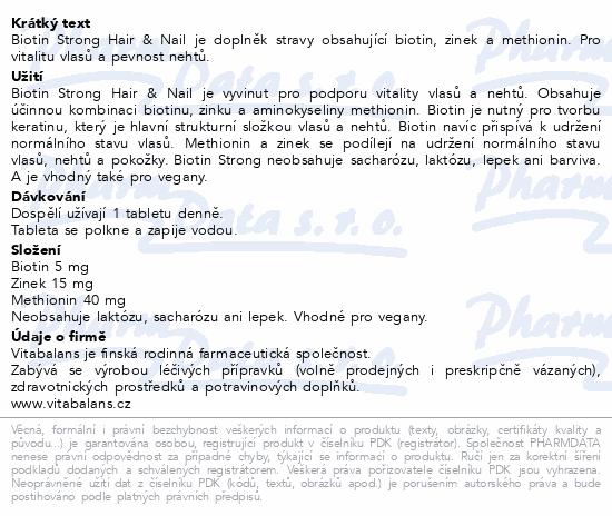 Biotin Strong Hair & Nail tbl. 60