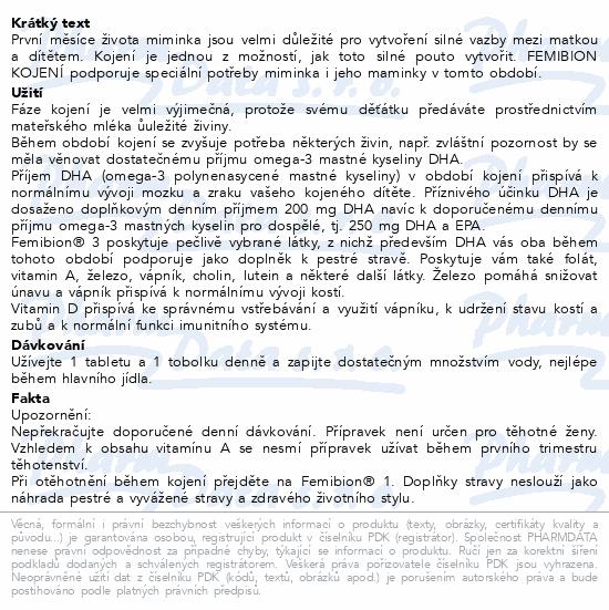 Femibion 3 Kojení tbl.28 + tob.28