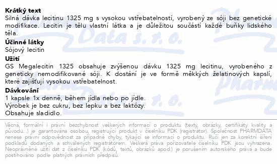 GS Megalecitin 1325 cps.100+30 dárek 2020 ČR/SK