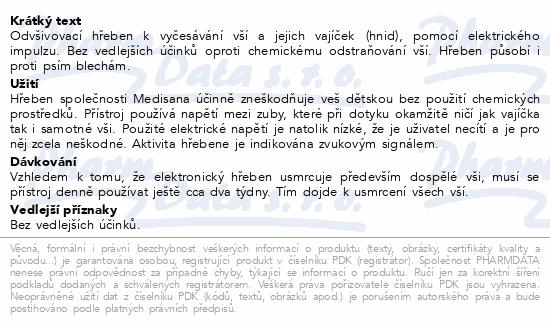 Hřeben odvšivovací LCS Medisana