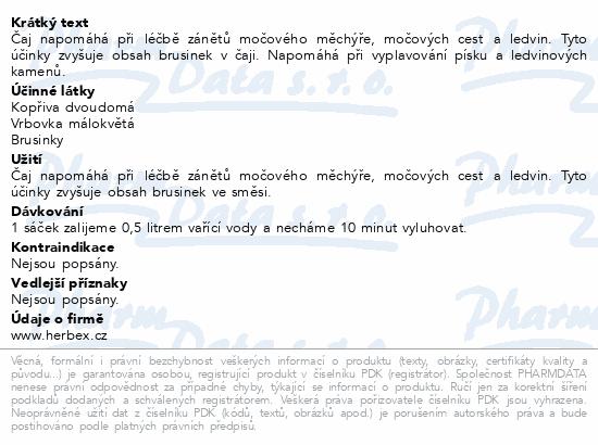 HERBEX Čaj urologický s brusinkami n.s.20x3g