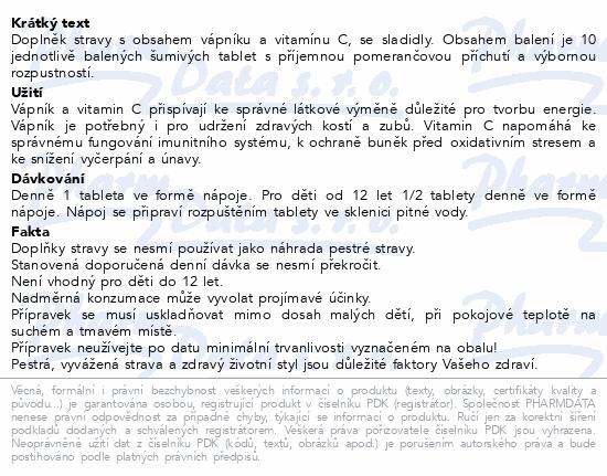 Calcium + Vitamin C 1000mg Generica eff.tbl.10