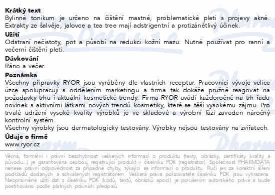 RYOR Aknestop bylin.tonikum na problem.pleť 200ml