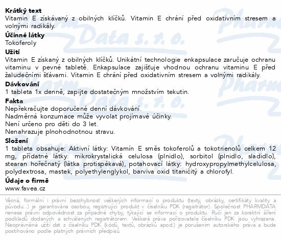 Favea Přírodní vitamín E tbl.30