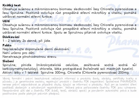 Chlorella + Spirulina tbl.60