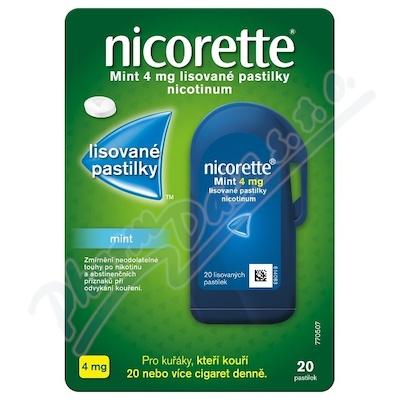 Nicorette Mint 4 mg lisované pastilky 20