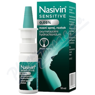 Nasivin Sensitive 0.05% nas.spr.sol. 1x10ml/5mg