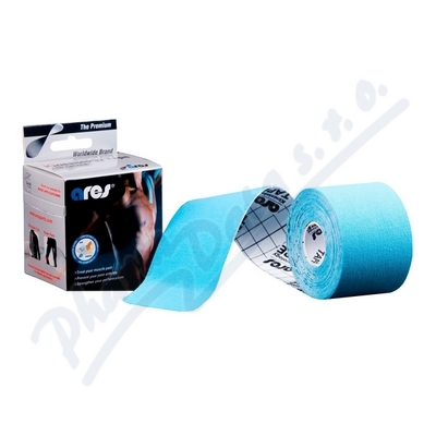 ARES kinesiology tape 5cm x 5m modrá