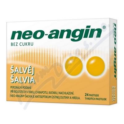 Neo-angin šalvěj pastilky 24