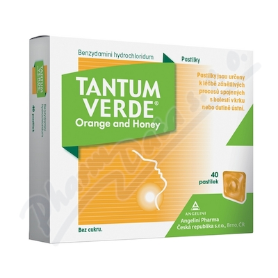 Tantum Verde Orange and honey orm.pas.40x3mg