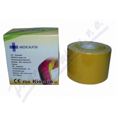 FOX MUSCLE TAPE-kinezi tejp.páska žlutá 5cmx5m