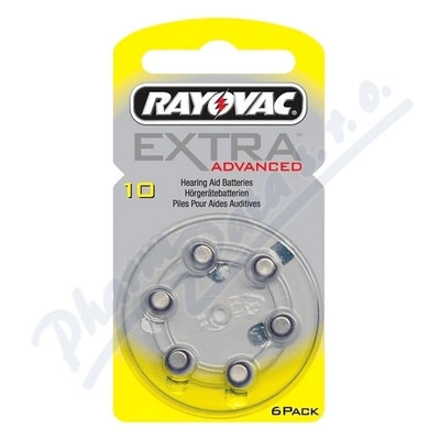 Rayovac Extra Adv.10 baterie do naslouchadel 6ks