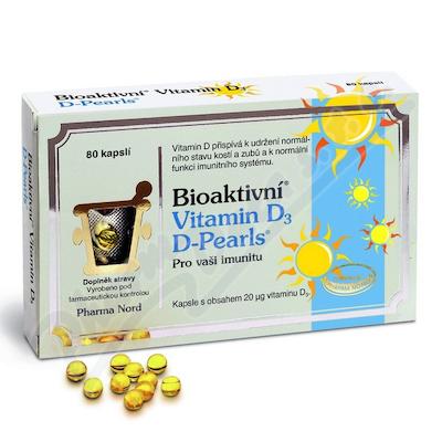 Bioaktivní Vitamin D3 D Pearls cps.80