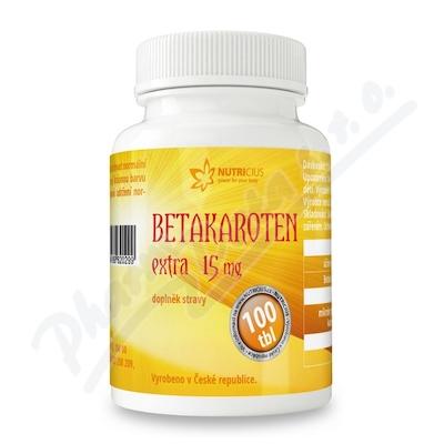 Betakaroten EXTRA 15mg tbl.100