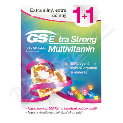 GS Extra Strong Multivitamin tbl.50+50 dárek 2018