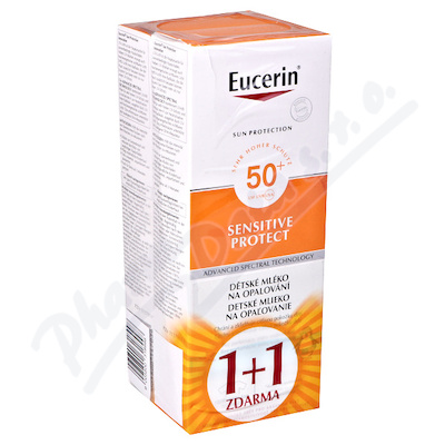 EUCERIN SUN Dětské mléko na op. SPF50+ 1+1 ZDARMA