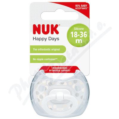 NUK Dudlík Happy Days SI V3(18m+) 1ks BOX 739488