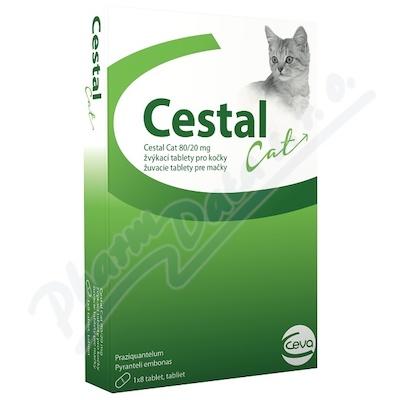 Cestal Cat 80/20 mg žvýkací tablety pro kočky 8ks