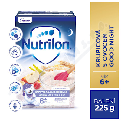 Nutrilon Krupicová kaše s ovocem GOOD NIGHT 225g