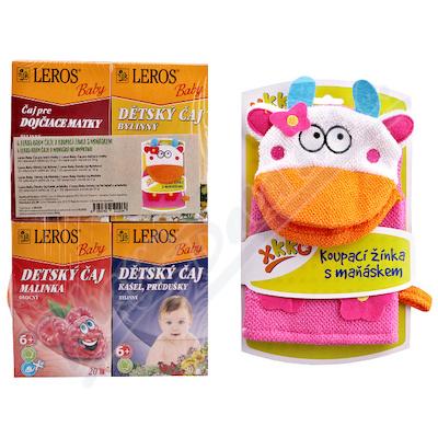 LEROS BABY dětské čaje mix+žínka 4x20ks