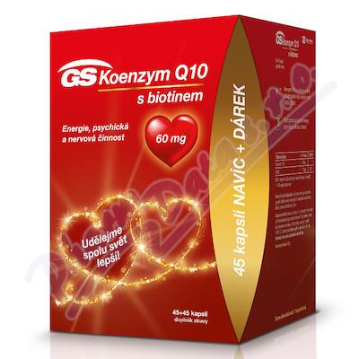GS Koenzym Q10 60mg cps.45+45 dárek 2020 ČR/SK