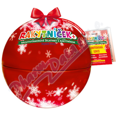 RAKYTNÍČEK+ želatinky 50ks Vánoční koule červená