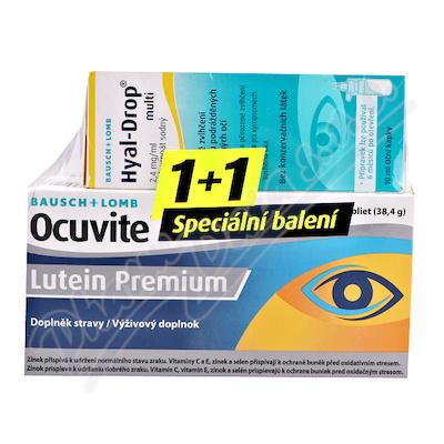 Ocuvite Lutein Premium tbl.60+Hyal Drop multi 10ml