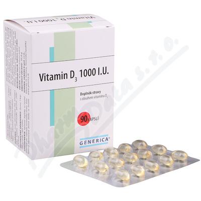 Vitamin D3 1000 I.U. cps.90 Generica