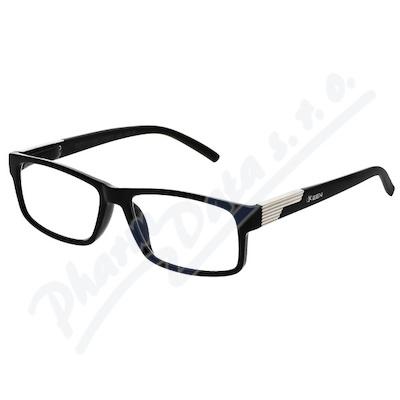 Brýle čtecí +1.50 černé s kovovým doplňkem FLEX