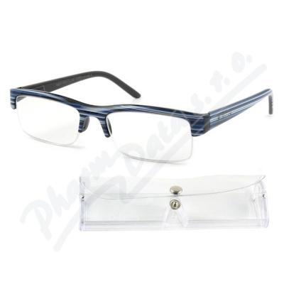 Brýle čtecí +2.00 modro-černé s pouzdrem FLEX