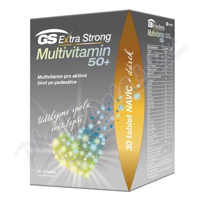 GS Extra Strong Multivit.50+ tbl.90+30 dárek 2021