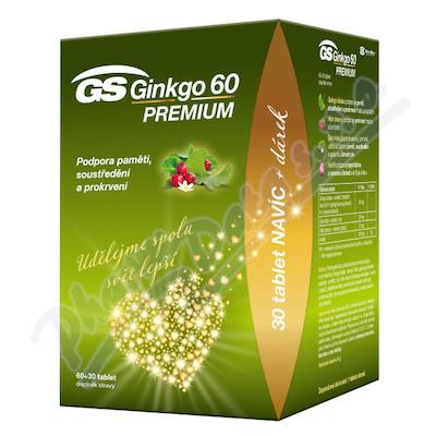 GS Ginkgo 60 Premium tbl.60+30 dárek 2021 ČR/SK