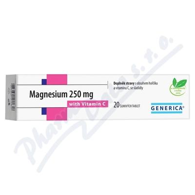 Magnesium 250mg tbl.eff 20 s vitam.C Generica