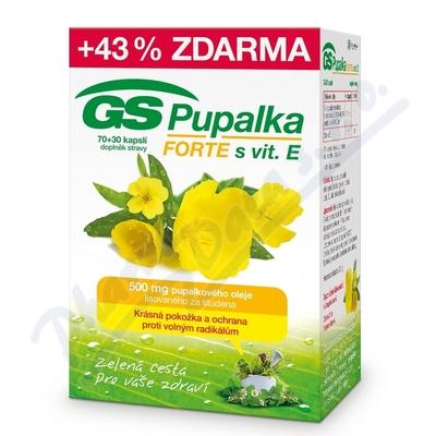 GS Pupalka Forte s vitaminem E cps.70+30
