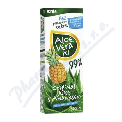Aloe vera gel s ananasem 500ml
